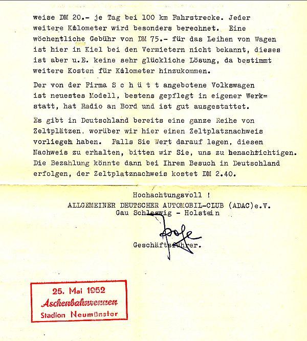 Schweden Göteborg Antwortschein 1951