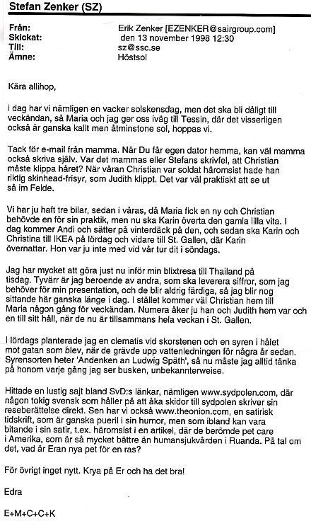 Namn och nytt i dag 1998 01 30